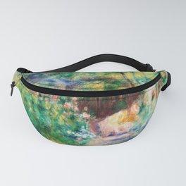 12,000pixel-500dpi - Pierre-Auguste Renoir - Landscape With Woman Gardening - Digital Remastered Fanny Pack