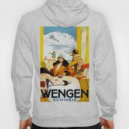 Vintage Wengen Switzerland Travel Hoody