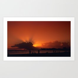 Hawaii Sunset - Ala Moana Beach Art Print