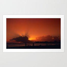 Hawaii Sunset - Ala Moana Beach Art Print