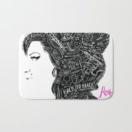 AMY back to black Bath Mat