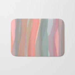 Peachy Watercolor Bath Mat