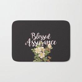 Blessed Assurance - Black Bath Mat