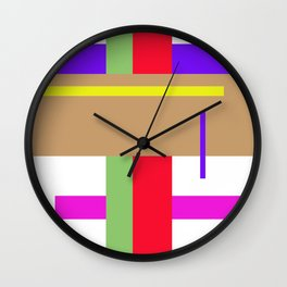 Geometrics 70's disco Wall Clock