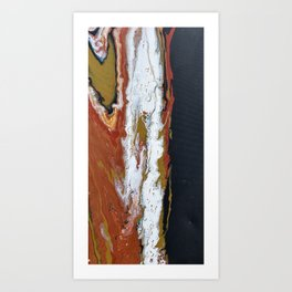 Fuse - Red Black Modern Abstract Fluid Art Painting Art Print