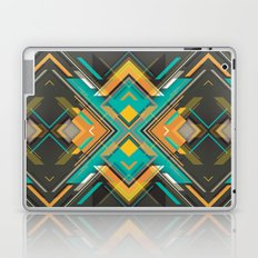 Teal and Orange Geometric Pattern Laptop & iPad Skin