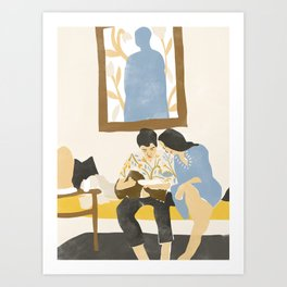 You and me and the music Art Print