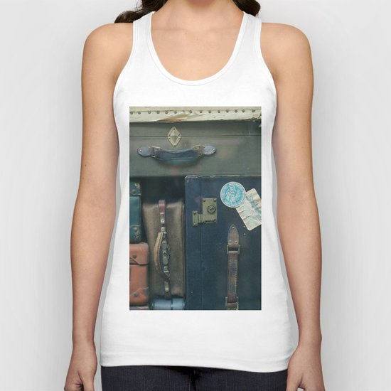 Stack of luggages Unisex Tank Top