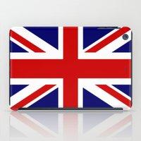 british flag iPad Cases featuring British Union Flag by PICSL8