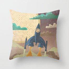 Dream Launch Throw Pillow