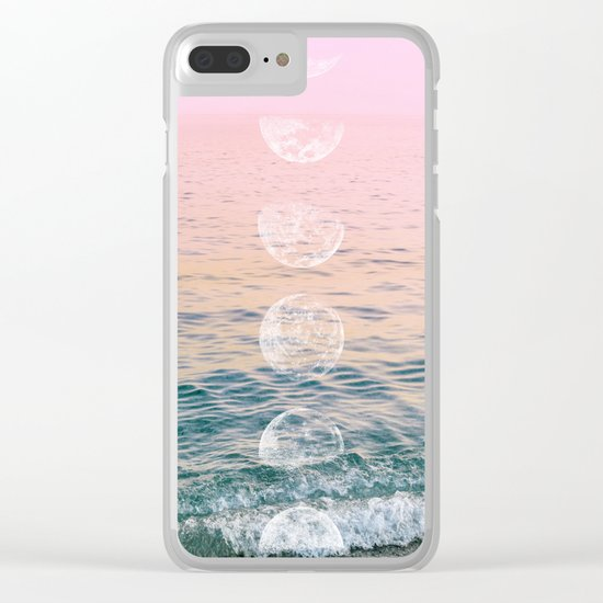 Moontime on the Beach Clear iPhone Case