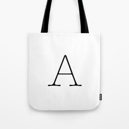 Letter A Typewriting Tote Bag