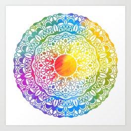 """Mandala """"leaf"""" Art Print"""