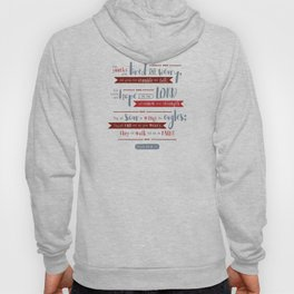 """Hope in the Lord"" Hand-Lettered Bible Verse Hoody"