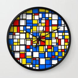 Mondrian Style 2 Wall Clock