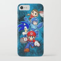 super smash bros iPhone & iPod Cases featuring Super Smash Bros  by Blaze-chan