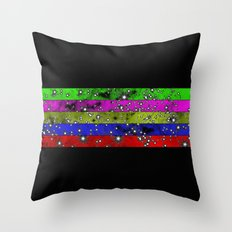 Stars N Stripes - Starry pattern in block colour stripes Throw Pillow