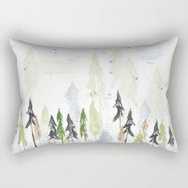 Into the woods woodland scene Rectangular Pillow