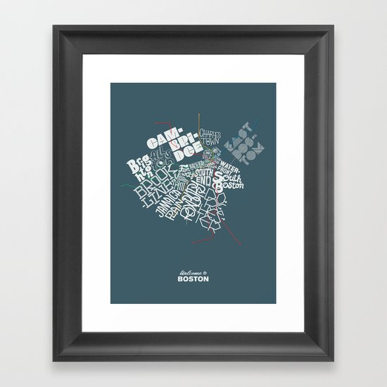 Welcome to Boston Framed Art Print