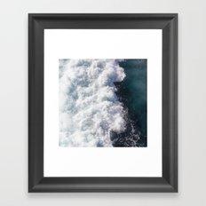 sea - midnight blue wave Framed Art Print