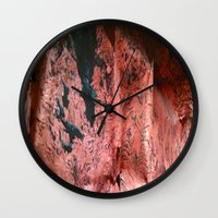 geology Wall Clocks featuring Copper Sheet by Whimsy Notions Designs