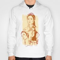 angelina jolie Hoodies featuring Angelina Jolie - Série Ouro by Renato Cunha