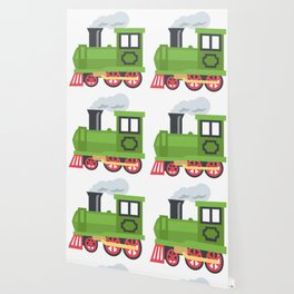 Green Steam Train Emoji Wallpaper