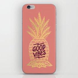 Good Vibes - Pink iPhone Skin