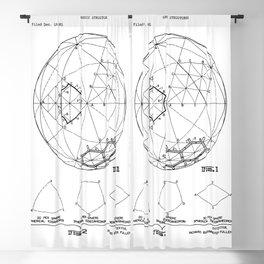 Buckminster Fuller 1961 Geodesic Structures Patent Blackout Curtain