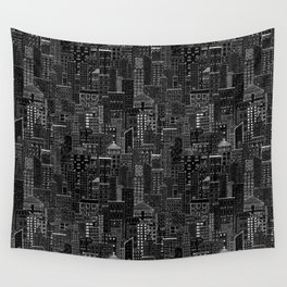 City Doodle (night) Wall Tapestry