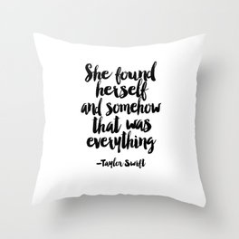 Quote,Swift Quote,Typography Print,Pardon My French,Inspirational Quote,Wall Art,Girls Room Throw Pillow