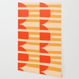 GEOMETRY ORANGE I Wallpaper