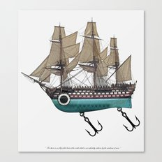 To catch a sea monster Canvas Print