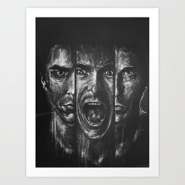 Christian bale expressions Art Print