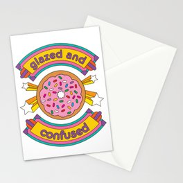 Glazed And Confused Donut Stationery Cards