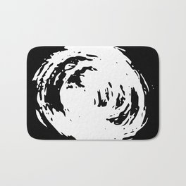 Whorl Black and White Bath Mat