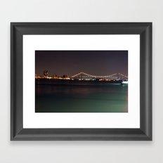 Bridge from Detroit to Canada Framed Art Print