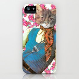 Din Dins handcut collage iPhone Case