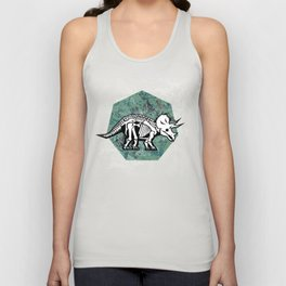 Triceratops Fossil Unisex Tank Top