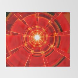Red Scope Throw Blanket