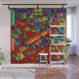 Rainbow strips Wall Mural