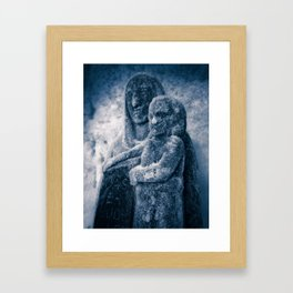 Frozen Madonna and Child Framed Art Print