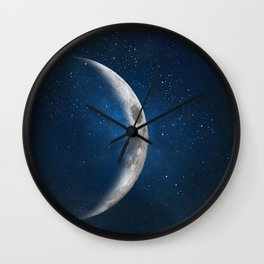 The moon is friend for the lonesome to talk to. Wall Clock