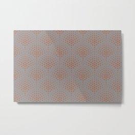 Cavern Clay SW 7701 Polka Dot Scallop Fan Pattern on Slate Violet Gray SW9155 Metal Print