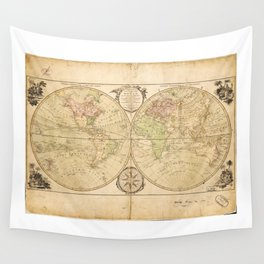 World Map by Carington Bowles (1791) Wall Tapestry