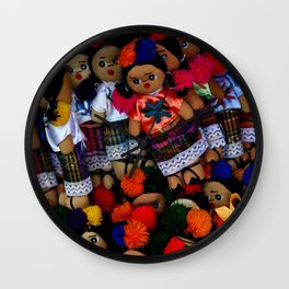 colorful dolls Wall Clock