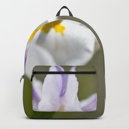 White Iris, close up - Botanical Photography Backpack