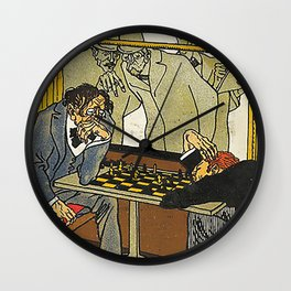 Viennese Café: The Chess Players (Wiener Café: Die Poster Wall Clock