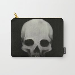 Skull Black Background Carry-All Pouch