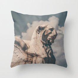 WINGED ROMAN LION Throw Pillow